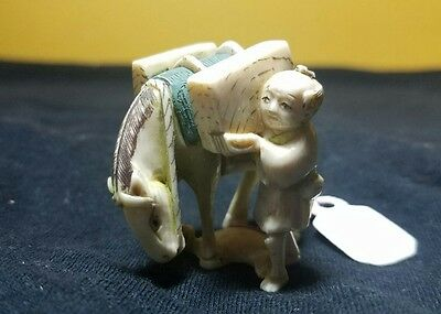 japanese hand carved and signed real netsuke