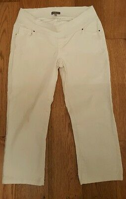 Size 14 white cropped maternity jeans new look