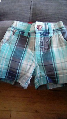 Next 3/6 month lovely checked shorts