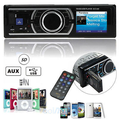 Car Auto Stereo Audio In-Dash Aux Input Receiver with USB MP3 FM Radio Player EK