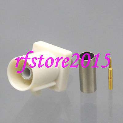 1pce Connector Fakra SMB B 9001 male plug crimp RG316 RG174 LMR100 RF COAXIAL