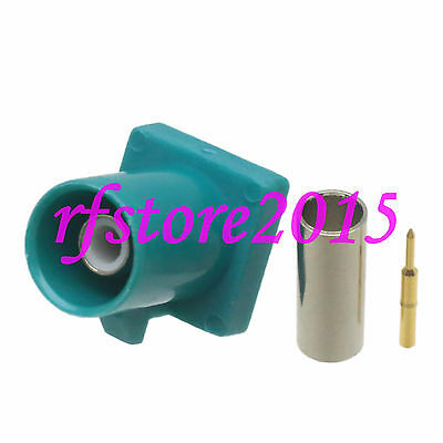 1pce Connector Fakra SMB Z 5021 male plug crimp RG316 RG174 LMR100 RF COAXIAL