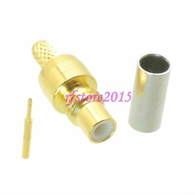 1pce Connector SMC male plug crimp RG316 RG174 LMR100 RF COAXIAL Straight