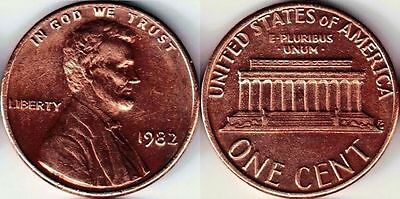 USA 1 One cent coin 1982