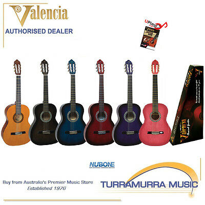 Valencia TC12 1/2 Size Classical Nylon Acoustic Guitar with Online Lessons!