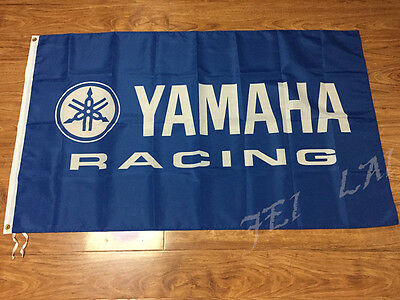 Yamaha Racing Banner 3x5 Feet flag