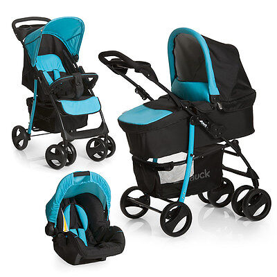 Hauck Kinderwagen 3in1 Set Shopper SLX Trio - Aqua / Babyschale Kombikinderwagen