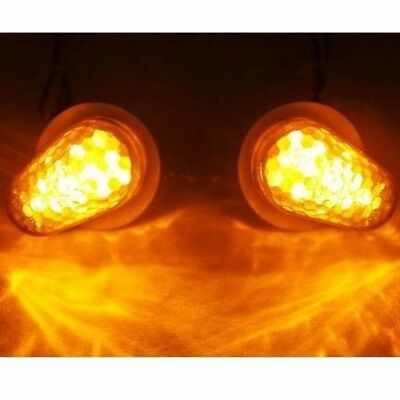 1 Pair Of LED Turn Signal Light Indicator Blinker Amber For Yamaha Motorcycle