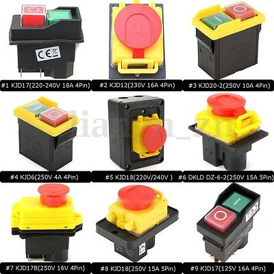 10 Types Emergency Stop Button Switch Electrical Industrial Workshop Machine AU