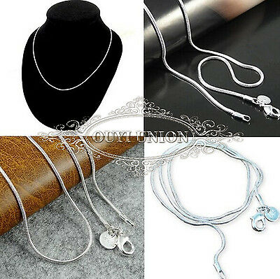 """Wholesale XMAS Gift Men Women Silver Plated Snake Chain Necklace 22"""" 1.2mm 20pcs"""