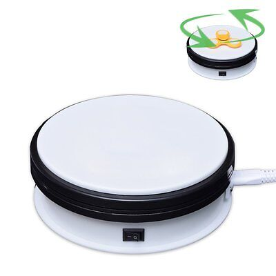 15cm 20KG 3D Photo 360° Rotating Display Stand Base Rotary Turntable White