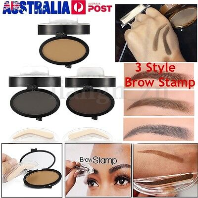Hot Eyebrow Shadow Definition Makeup Brow Stamp Powder Palette Delicated Natural