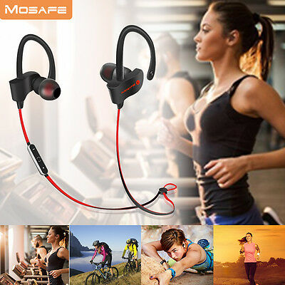 Bluetooth Headset 4.0 Wireless Sport Stereo Headphone Earphone Earbuds Universal