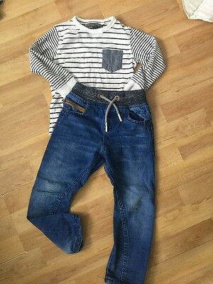 Next Boys Trendy Outfit Age 3 Years Jeans, Long Sleeved Top