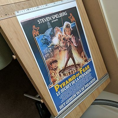 """YOUNG SHERLOCK HOLMES and the Pyramid of Fear"" ULTRA-RARE Movie Poster ROLLED!"