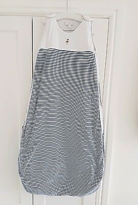 C.E. The Little White Company Baby Sleeping Bag Blue Stripe 18-36 Months 2.5 tog