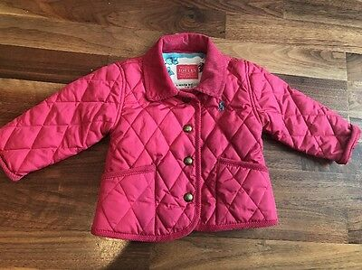 Baby Girls Joules Shower Resistant Pink Jacket 6 To 9 Months