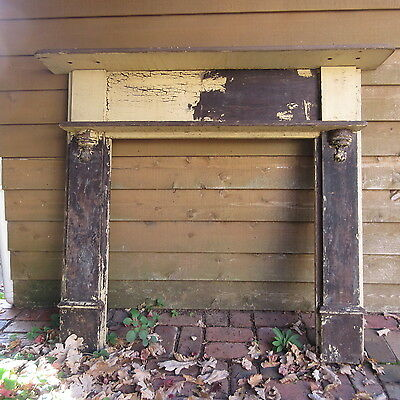 MANTLE - VINTAGE 1920'S - TIMBER ,PAINTED,  RENOVATORS PROJECT   , 43a