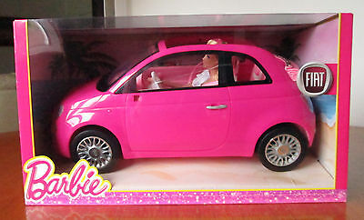 Pink Fiat 500 Cabrio convertible with Barbie, by Mattell, BNIB
