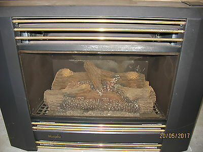Rinnai Classique Flame Fire Natural Gas Log Heater - Inbuilt Model