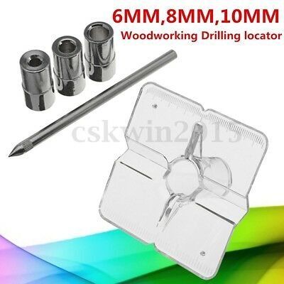 Mini Pocket Hole Drill Dowel Jig Guide 6mm 8mm 10mm Woodworking Drilling Locator