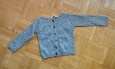 Country Road Baby Girl Cardigan Size 3-6 mths silver thread wool adorable