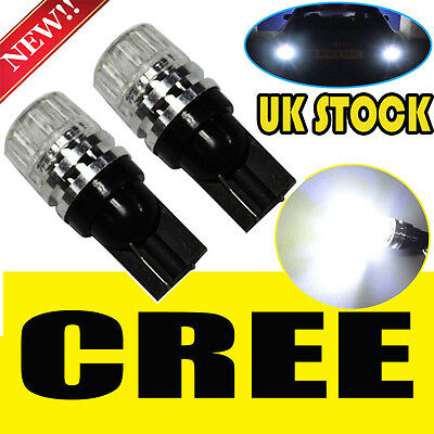 2x 501 CREE ERROR FREE CANBUS LED SMD SIDE INDICATOR WHITE BULBS XENON T10 W5W