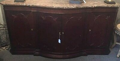 Marble Topped Mahogany Sideboard