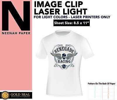 Image Clip Laser Light Self-Weeding Heat Transfer Paper 8.5 x 11 -50 Sheets