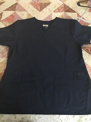 Perfect Wonderwink flex scrubs Top And Pants Set Large/petite Navy Blue