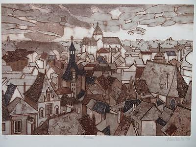 Valerie Thornton RE (1931-1991) LIMITED EDITION Etching pencil signed of AMBOISE