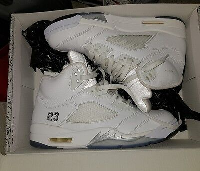 Air Nike Jordan Retro 5 White/Grey US9.5 Eur43