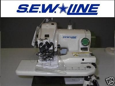 S.e.w.line Sl-500 Portable  Blind-Stitch Skip/non Skip Industrial Sewing Machine
