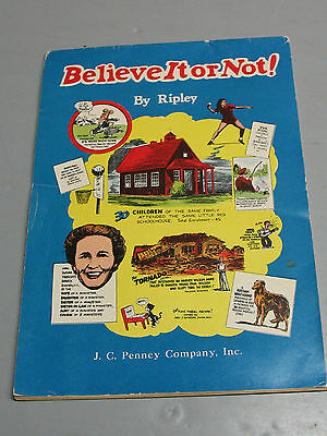 J C Penney  Premium  Believe It  Or Not  Comic 1948   Very Nice Cond.