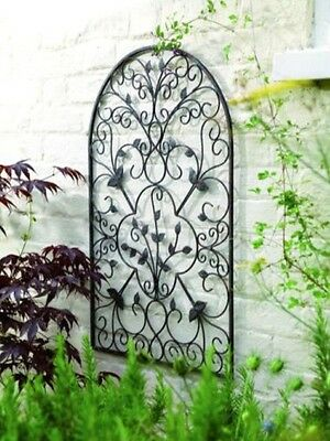 Antique Rustic Arch Metal Patio Wall Art Flower Garden House Entry Hanging Decor