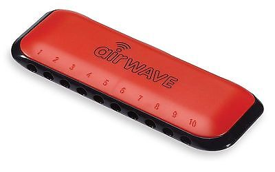 Musical Instrument Corporation AW-1R Airwave Harmonica with Instruction Book,...
