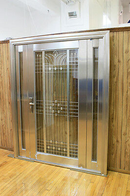 New Stainless Steel Entry Doors With Sidelights/ Open Outward
