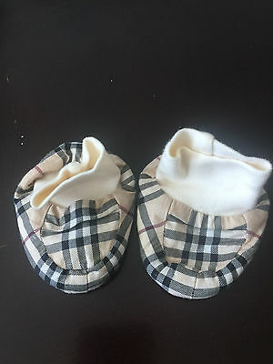 Burberry baby booties shoes Nova Check beige 3 months