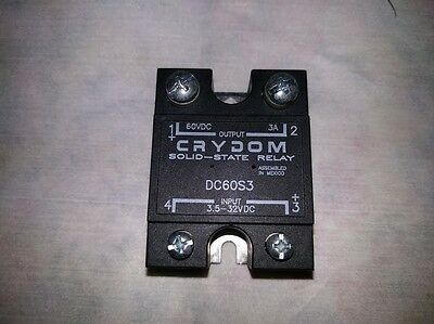 NEW Crydom DC60S3 Solid-State Relay, 60VDC, 3A