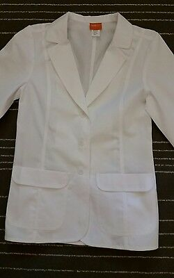 OVERPRO by BARCO SMALL Ladies 2 Pocket Lab Coat Medical Scrub Doctor Jacket