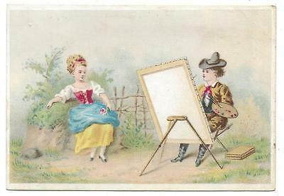 Champerico Coffee - Trade Card - Model Artist Easel Painter Palette