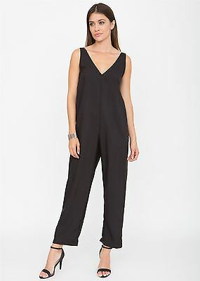 Relaxed Romper Jumpsuit Black