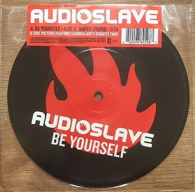 """AUDIOSLAVE - BE YOURSELF 7"""" PICTURE DISC  Soundgarden Chris Cornell"""