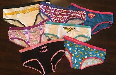 Girls DC Comics Panties Size 8, 7 Pairs, New Out Of Package, Wonder Woman