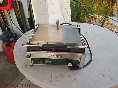 Waring WFG150 Commercial Countertop Panini Press Grill-Food Truck