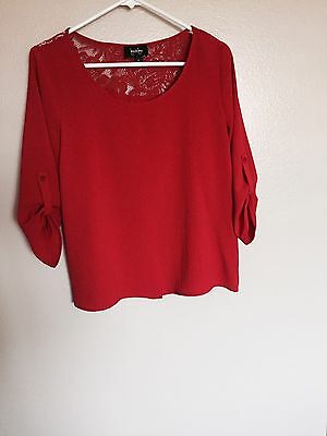 Women's By&By Shirt Top Blouse Red Size M New Without Tags