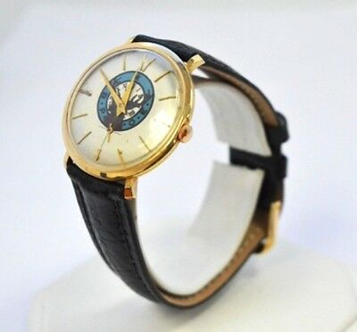 W600-Vintage Hard To Find 14K Solid Yellow Gold B.poe Elk Watch