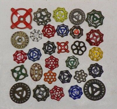 30 Colorful Beautiful Water Faucet Knobs Valves Handle Steampunk Industrial Art