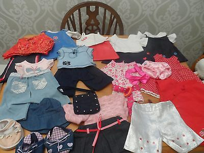 Large bundle of Build a Bear / Bear Factory clothes and shoes
