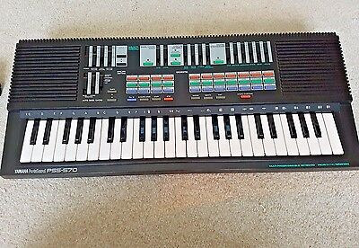Vintage Yamaha PSS-570 Keyboard Synthesiser Multi Programmable Music KeyBoard **